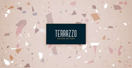 classic terrazzo flooring tiles pattern texture background  イラスト・ベクター素材