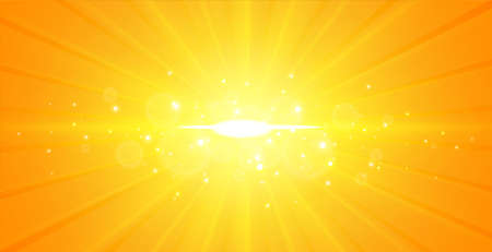 glowing center light rays yellow background design