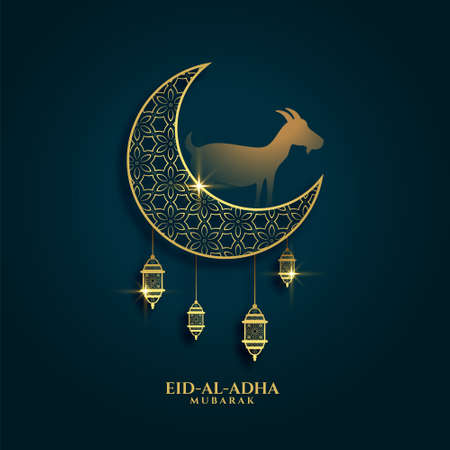 lovely greeting of eid al adha festival background design
