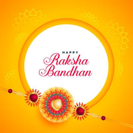 awesome raksha bandhan festival card with rakhi design