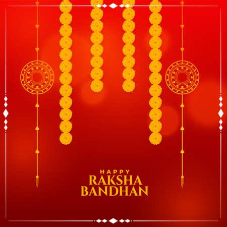 indian style raksha bandhan festival wishes card design