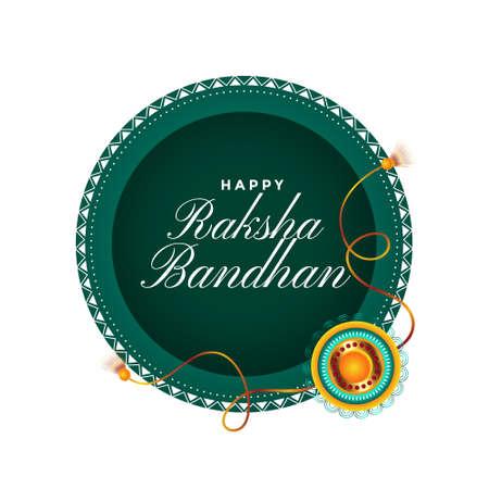 happy raksha bandhan traditional festival card design  イラスト・ベクター素材