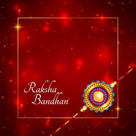shiny raksha bandhan indian festival card design  イラスト・ベクター素材