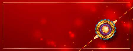 indian raksha banshan festival card in red shiny style