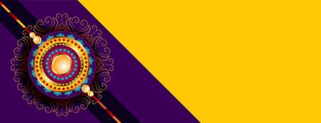 raksha bandhan wishes banner with text space