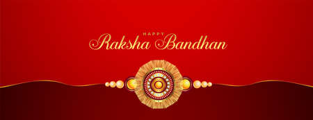 hindu religion raksha bandhan festival banner design  イラスト・ベクター素材