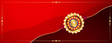 traditional raksha bandhan indian festival banner design