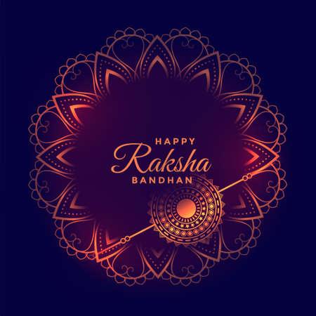 decorative raksha bandhan festival wishes card design