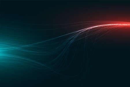 digital technology abstract light streaks background design Vektorgrafik