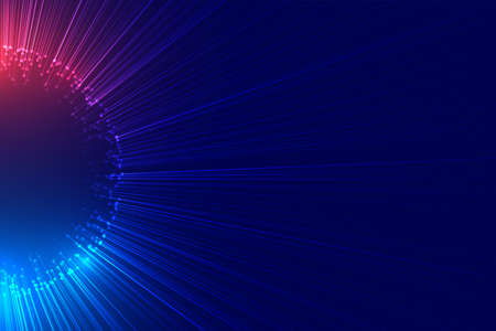 beam of lights bursting out technology background Vettoriali