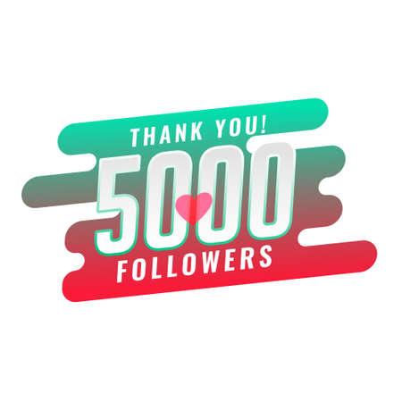 thank you 5000 social media follower template design