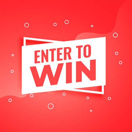 enter to win red background for promotion purpose