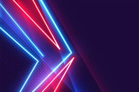 glowing neon geometric lights line background design Illusztráció