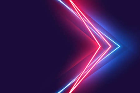 stylight neon light effect poster in red and blue colors