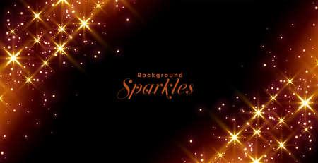 glittering sparkles and stars celebration banner design  イラスト・ベクター素材