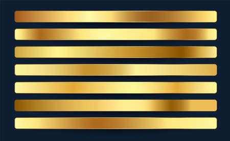premium royal golden gradients swatches palette set design Vektorové ilustrace