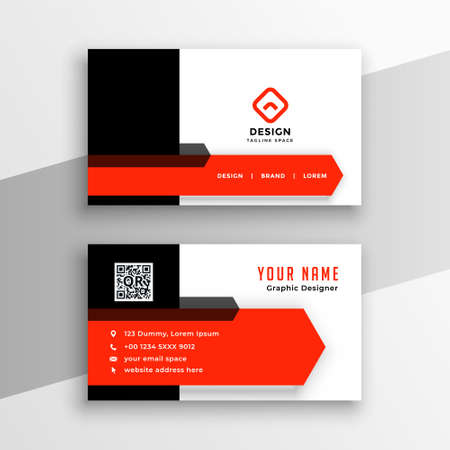 modern red color theme business card template design