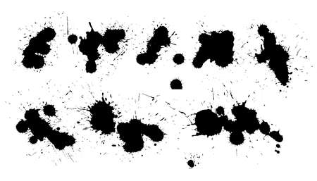 detailed black ink splatter collection design