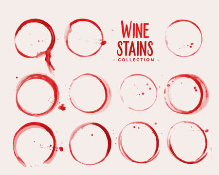 wine glass stain texture set design Иллюстрация