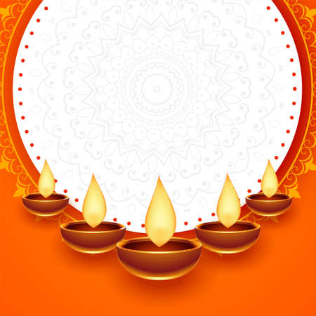happy diwali festival card with text space