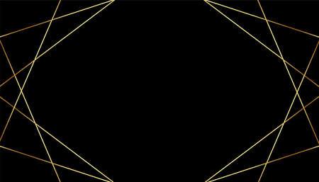 black premium background with golden geometric lines design 向量圖像