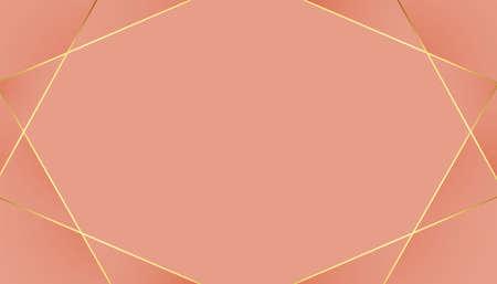 low poly golden lines pastel color background 向量圖像
