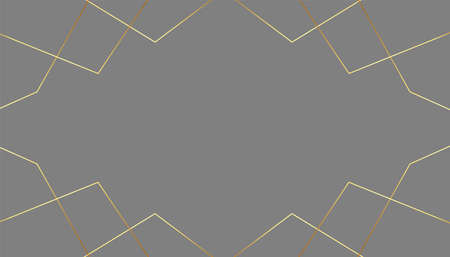 premium gray color background with golden lines design 向量圖像