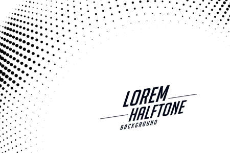 halftone effect background in circular style design