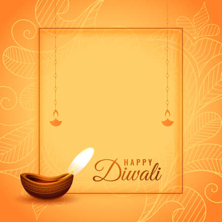 happy diwali hindu festival wishes card design