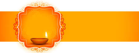 indian happy diwali festival decorative banner design