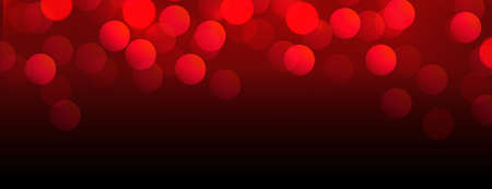 beautiful red bokeh banner with text space