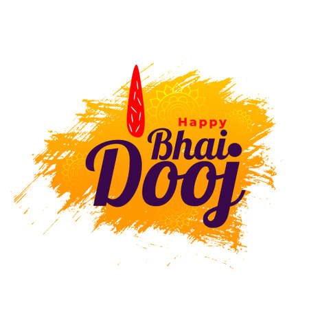 Bhai dooj indian festival celebration background design vector