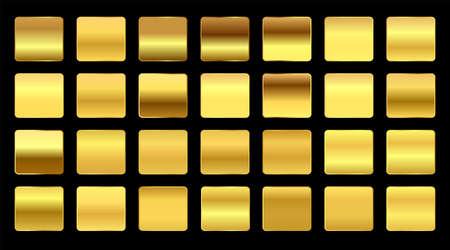premium yellow gold gradients swatches big set