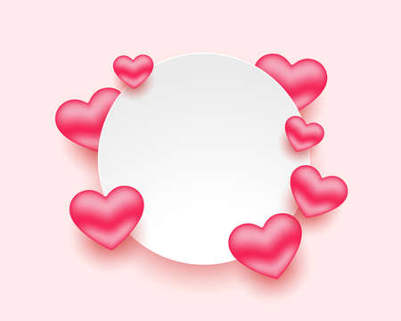 romantic hearts frame for valentines day with text space 向量圖像