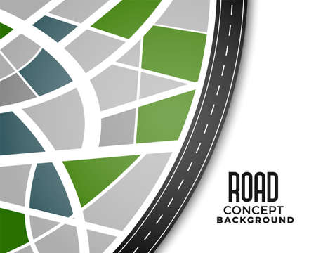 journey route pathway road map background design Vector Illustration