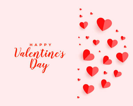 valentines day floating hearts beautiful card design