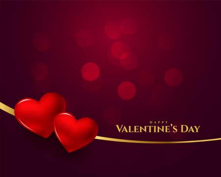 happy valentines day 3d heart background design