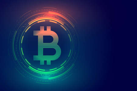 digital bitcoin technology concept background design