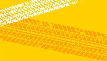 yellow tire tracks imprint background design