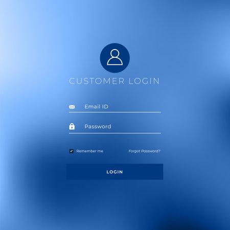 minimal style login page template design Vecteurs