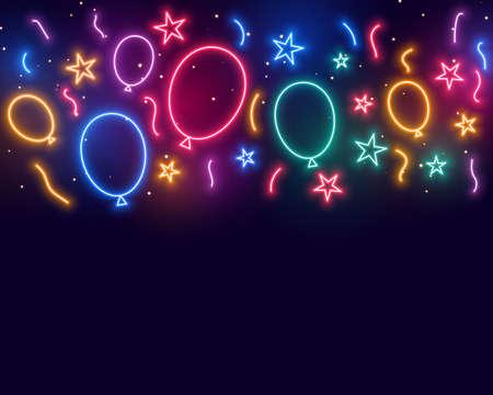 ballons stars and confetti celebration birthday background Vecteurs