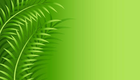 green leaves background with text space