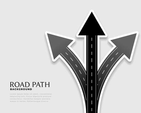 direction arrows made with road style
