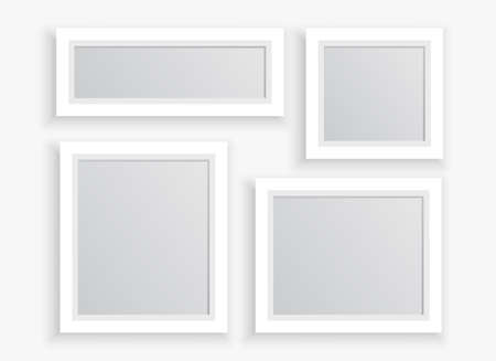 photo frames set in different sizes