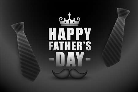 happy fathers day background in black color theme