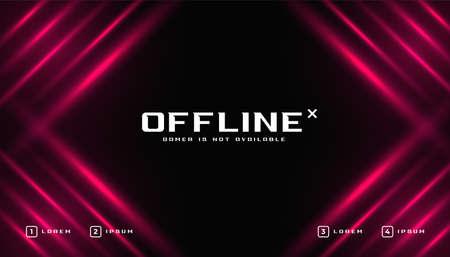 shiny offline gaming banner template Vector Illustration