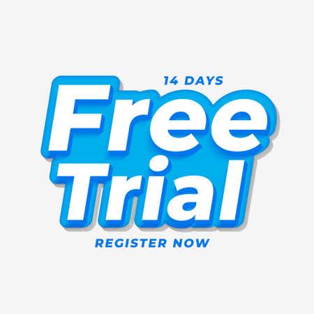 14 days free trial background design Vettoriali