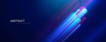 abstract blue background with glowing lines