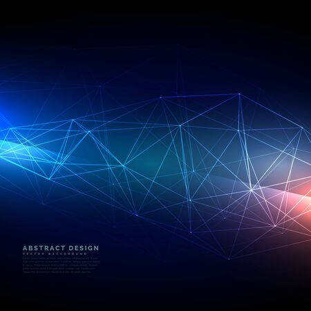abstract technology wireframe mesh in digital style