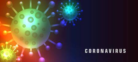 coronavirus covid-19 public health disease banner concept Ilustración de vector